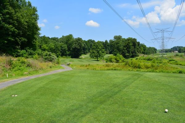 A cart path winds along the course at Chapel Hill
