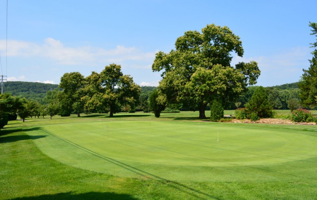 View of the putting green at Chapel Hill Golf Course in Reading, PA